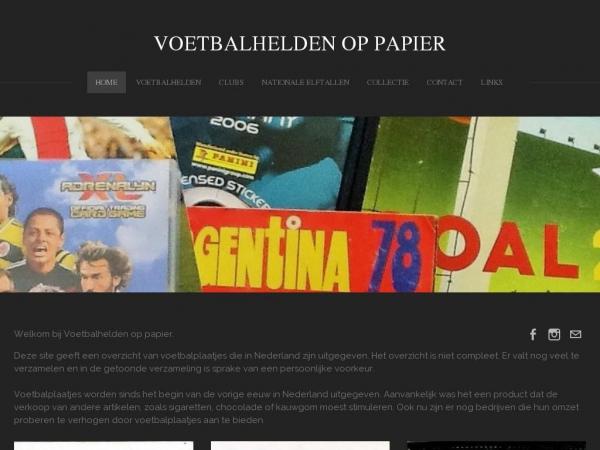 voetbalheldenoppapier.nl